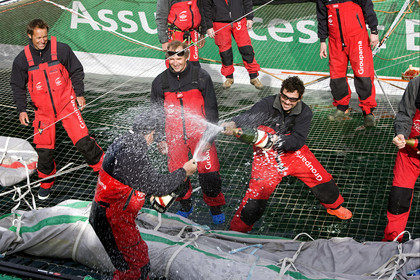 JULES VERNE TROPHY . New Round the World sailing Record for GROUPAMA 3, skipper Franck Cammas (FRA).
