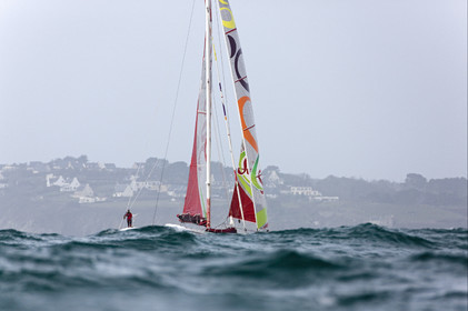 Thomas Coville (FRA) Solo Sailing Round the World Record attempt, Finish .